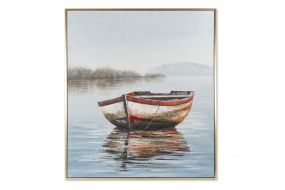 PICTURE CANVAS PS 131X3,8X156 BARCA HAND PAINTED