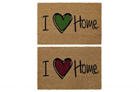 DOORMAT COCONUT PVC 60X40X1,5 LOVE HOME 2 MOD.