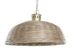 CEILING LAMP WICKER METAL 74X74X47 BROWN
