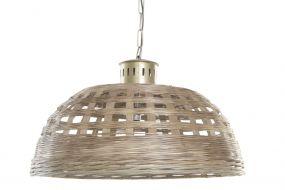CEILING LAMP WICKER METAL 72X72X44 BROWN