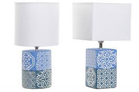 TABLE LAMP CROCKERY POLYESTER 15X15X30,5 2 MOD.