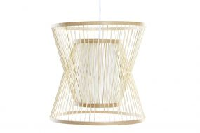 CEILING LAMP BAMBOO 33X33X32,5 NATURAL