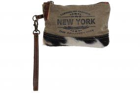 TOILET BAG/ KIT LEATHER 20X2X13 NEW YORK COW