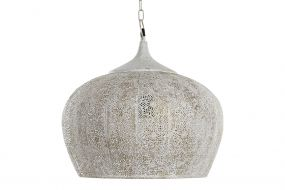 CEILING LAMP METAL 43X43X41 AGED WHITE
