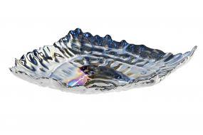 TRAY KEYS GLASS 26X20X5,5 SHELL IRIDESCENT