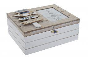 BOX MDF 25X20X10 PHOTOGRAPHY DECAPE WHITE