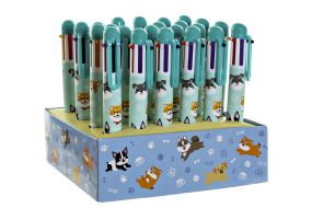 PEN ABS 2X14 DOGS MULTICOLORED