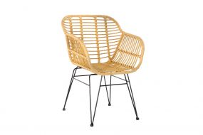 CHAIR SYNTHETIC RATTAN METAL 57X62X81 0,12 NATURAL