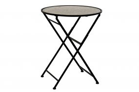 TABLE METAL BAMBOO 60X60X76,5 DECAPE BLACK