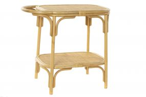 AUXILIARY TABLE RATTAN BAMBOO 75X43X69 NATURAL