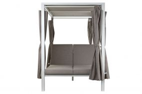 CHILL OUT BED ALUMINIUM 148X188X205 DOUBLE AWNING
