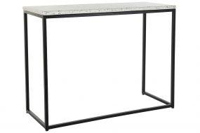 CONSOLE TABLE IRON STONE 100X40X77 TERRAZO BLACK