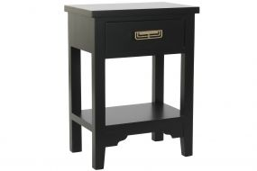 BEDSIDE TABLE MDF METAL 48X30X65 BLACK