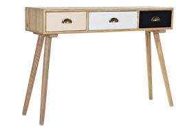 CONSOLE TABLE MDF WOOD 110X30X78 NATURAL