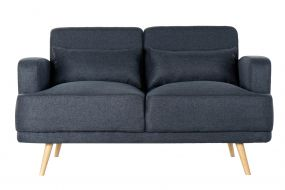 COUCH POLYESTER 135X70X76 TWO DECORATIVE CUSHIONS