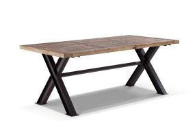 TABLE WOOD METAL 200X100X78