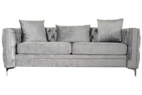 COUCH POLYESTER METAL 210X88X76 3PLAZAS 3 CUSHIONS