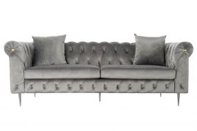 COUCH POLYESTER 230X90X91 3 PLAZAS 2 CUSHIONS