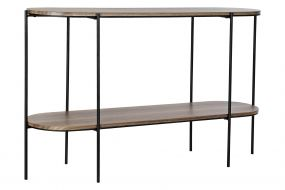 CONSOLE TABLE METAL WOOD 123X35X75,5 BROWN