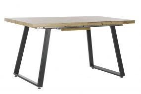 TABLE MDF METAL 140X80X75 NATURAL
