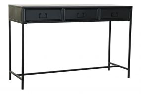 CONSOLE TABLE METAL 120X40X76 BLACK