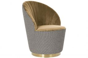 ARMCHAIR POLYESTER 69X66X85 BROWN