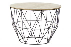 AUXILIARY TABLE WOOD METAL 58X41 NATURAL