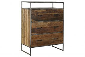 CHEST OF DRAWERS ACACIA RECICLED WOOD 80X40X105
