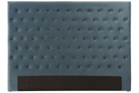 BED HEADER WOOD POLYESTER 164X9X123 BLUE