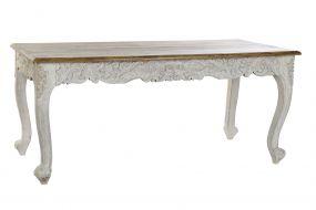 TABLE MANGO WOOD 180X90X80 PEACOCK AGED WHITE