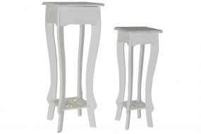 AUXILIARY TABLE SET 2 MDF 30X30X76 WHITE