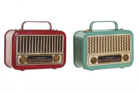 DECORACION METAL LED 19X8X16 RADIO 2 SURT.