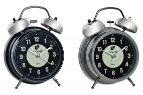 ALARM CLOCK METAL PLASTIC 11,5X5,5X6,5 2 MOD.