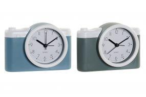 ALARM CLOCK PVC GLASS 13,6X4,6X9,6 CAMERA 2 MOD.