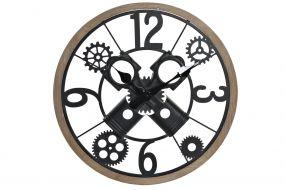 WALL CLOCK IRON MDF 60X6X60 BLACK