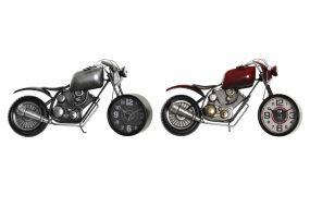 RELOJ SOBREMESA HIERRO 44X13,5X23 MOTO 2 SURT.
