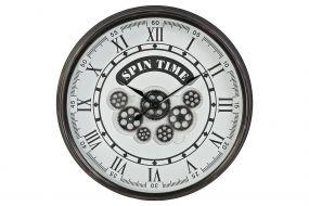 WALL CLOCK IRON GLASS 58,5X10,5X58,5 MOVEMENT