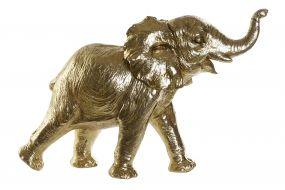FIGURE RESIN 50X17X32 ELEPHANT GOLDEN
