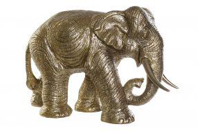 FIGURE RESIN 83X32X56 ELEPHANT GOLDEN