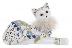 FIGURE RESIN 22X8,5X13,5 CAT WHITE