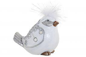 FIGURE RESIN 15X9X12 BIRD WHITE
