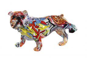 FIGURE RESIN 26,5X14,5X16 GRAFFITI DOG