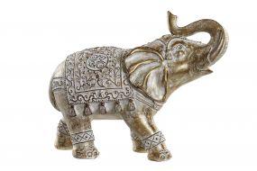 FIGURE RESIN 31X13X24,5 ELEPHANT WHITE