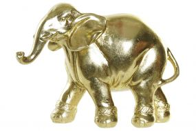 FIGURE RESIN 17X6,2X12 ELEPHANT GOLDEN