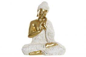 FIGURE RESIN 33X21,7X40,3 BUDDHA GOLDEN