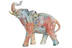FIGURE RESIN 28X13X23,5 ELEPHANT MULTICOLORED