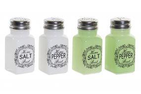 SALT SHAKER GLASS 4X4X9,5 70 PEPPER POT 4 MOD.
