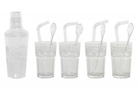 COCKTAIL SET 13 GLASS PP 25X9X25 PRINTED