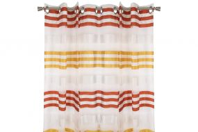 CURTAIN POLYESTER 140X275 RINGS RED