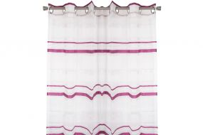 CURTAIN POLYESTER 140X275 MAROON